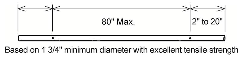 fixed ballet barre bracket diagram