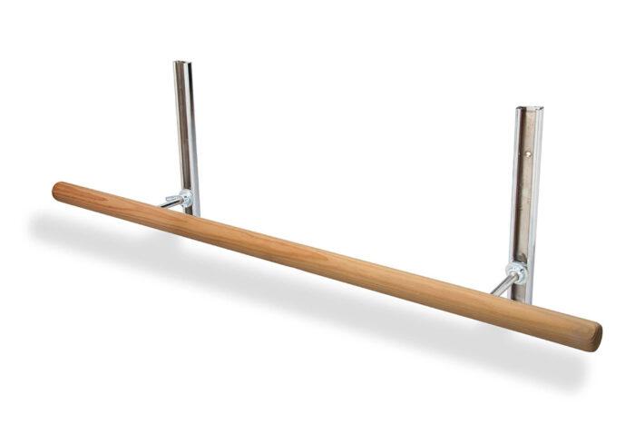Alvas wall mount adjustable barre bracket with poplar barre