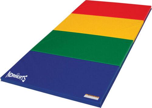 Norberts Gym Mat Standard 4' x 8' - Rainbow