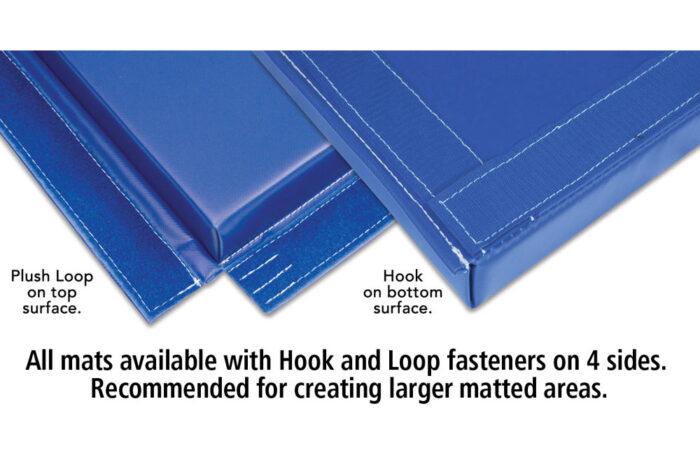 Norberts gym mat, hook and loop fasteners
